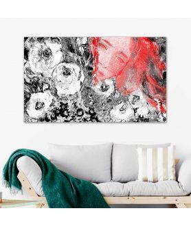 Kwiaty i portret Makowa panienka obraz do salonu