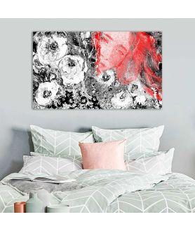 obrazy kwiaty Obraz czarno czerwony Makowa panienka (1-częściowy) szeroki