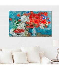 Kwiaty Maki dla Vincenta van Gogha obraz do salonu