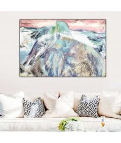 Góry zimą obraz Góra obraz plakat