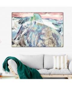 Góry zimą obraz Góra (1-częściowy) szeroki