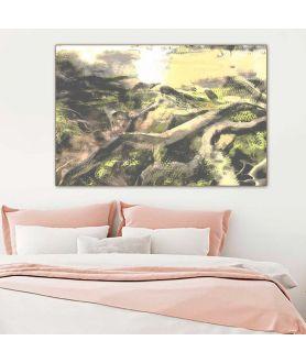 Obraz plakat Obrazy natury Drzewa i las wąski