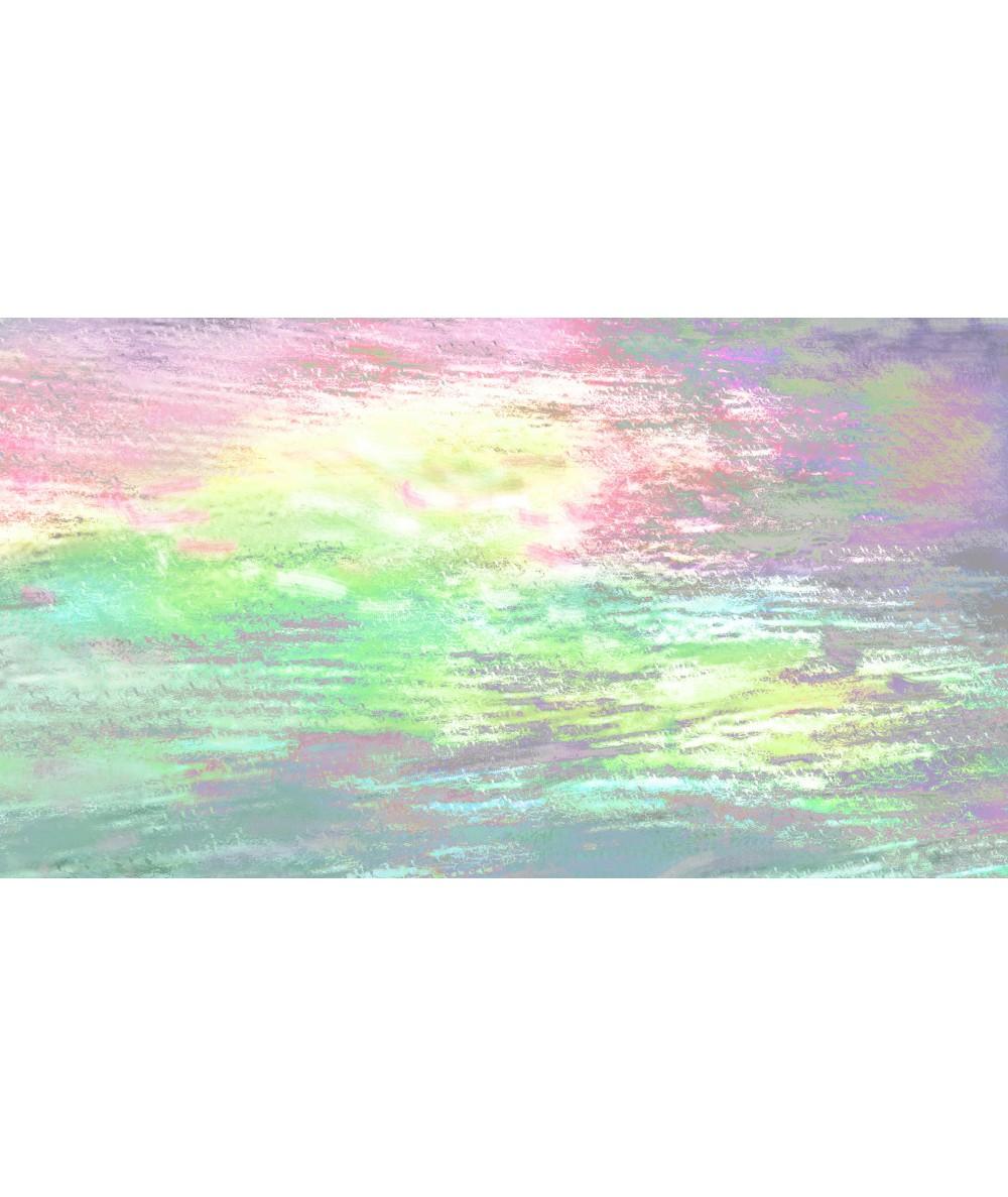 Tęczowy obraz Niebo wieczoru w jeziorze