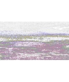 Obraz na płótnie Obraz zachód słońca Grafika fali (1-częściowy) szeroki