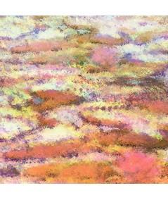 Obraz na płótnie Obraz pomarańczowy Nenufary impresja