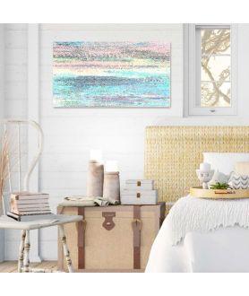 Obraz na płótnie Obraz pasiasty Wschodzące słońce