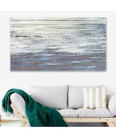 Obraz na płótnie Obraz morza Grafika krajobrazu (1-częściowy) szeroki