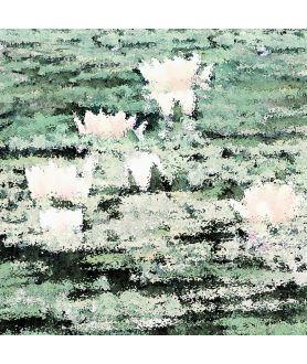 Pejzaż z liliami obraz plakat