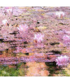 Obraz na płótnie Obraz krajobraz z kwiatami Pejzaż z nenufarami