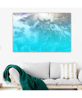 Obrazy pejzaże - Obraz w kolorze turkusowym Tropikalna wyspa