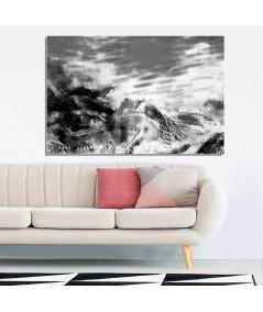 Krajobraz czarno biały Wodny świat obraz plakat