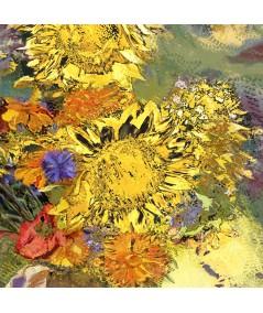 Obraz z żółtym motywem Impresja słoneczniki