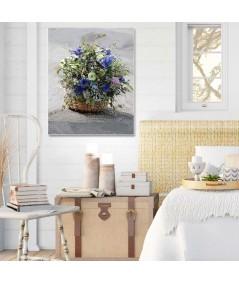 Koszyk z kwiatami obraz do salonu