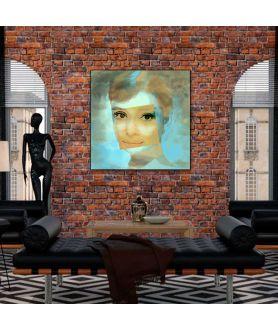Obraz na płótnie Audrey Hepburn uśmiech