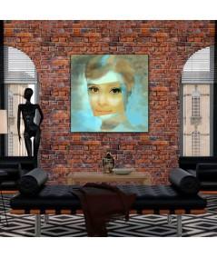 Obraz na płótnie Obraz Audrey Hepburn uśmiech (1-częściowy) pionowy