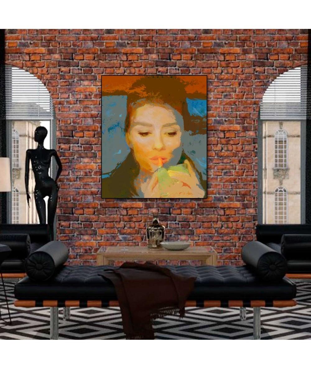 Obrazy Audrey Hepburn - Obraz Szminka Audrey Hepburn (1-częściowy) pionowy