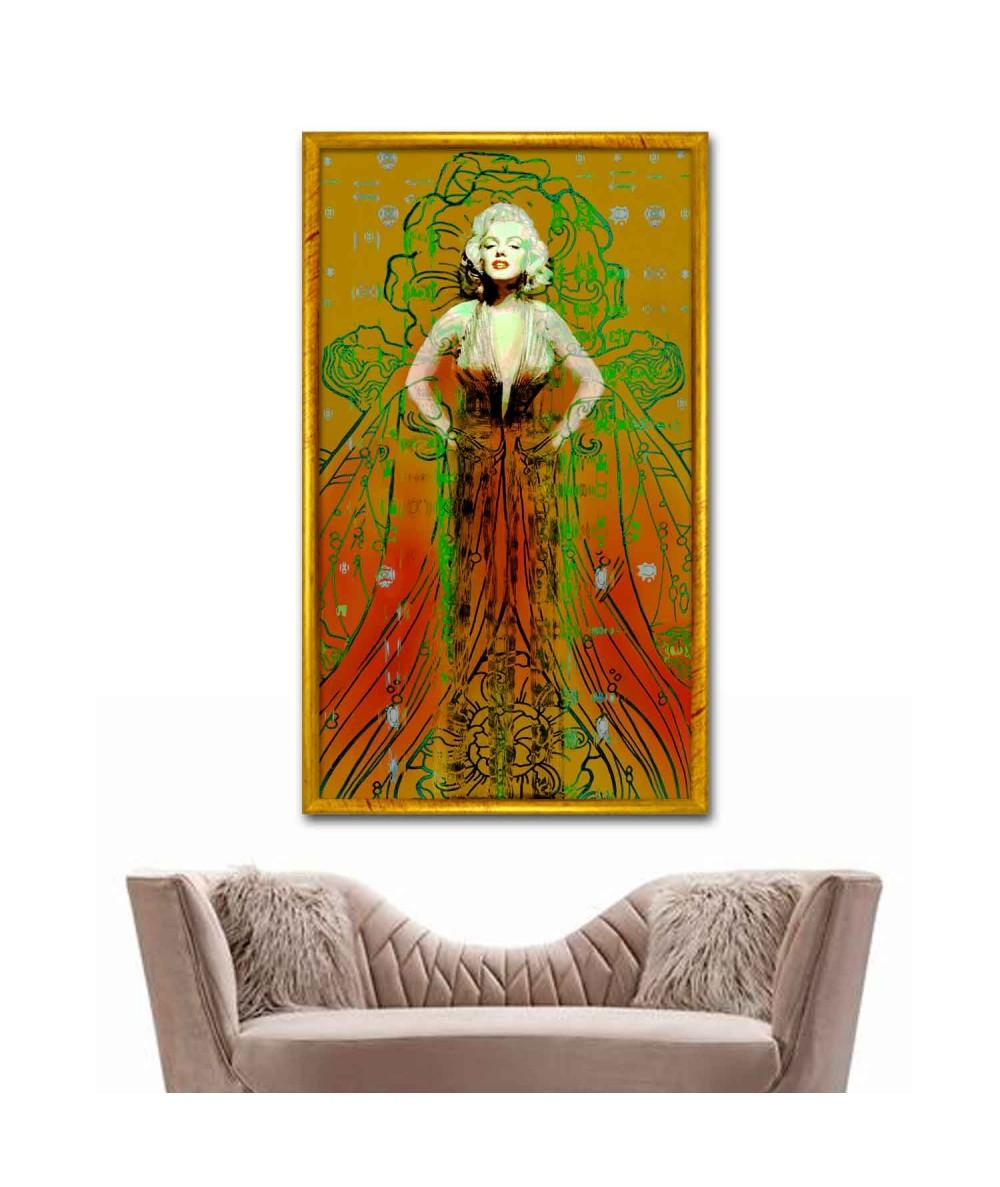 Obraz w stylu art deco Suknia Marilyn Monroe (pionowy)