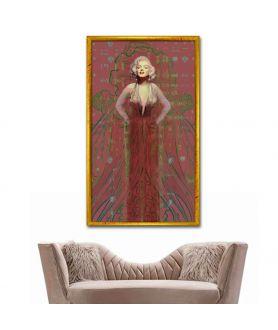 Obraz na płótnie Obraz Suknia Marilyn Monroe no. 2 (pionowy)