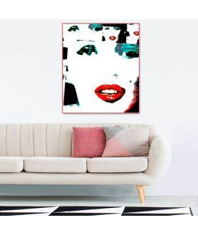 Obraz na płótnie Obraz Twarz Marilyn Monroe (1-częściowy) pionowy