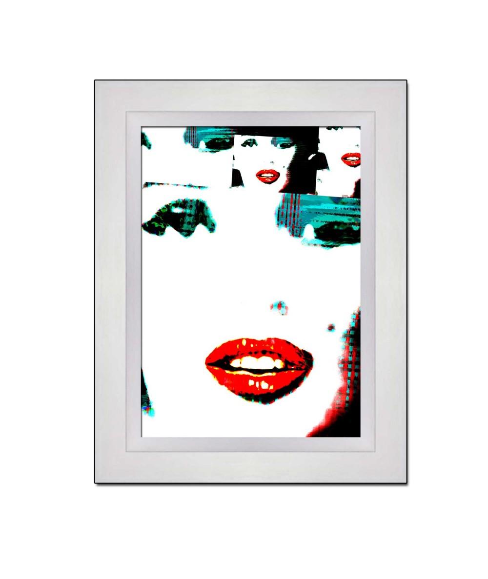 Obraz Twarz Marilyn Monroe (1-częściowy) pionowy