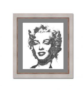 Obraz na płótnie Obraz Pop art Monroe white (1-częściowy) pionowy