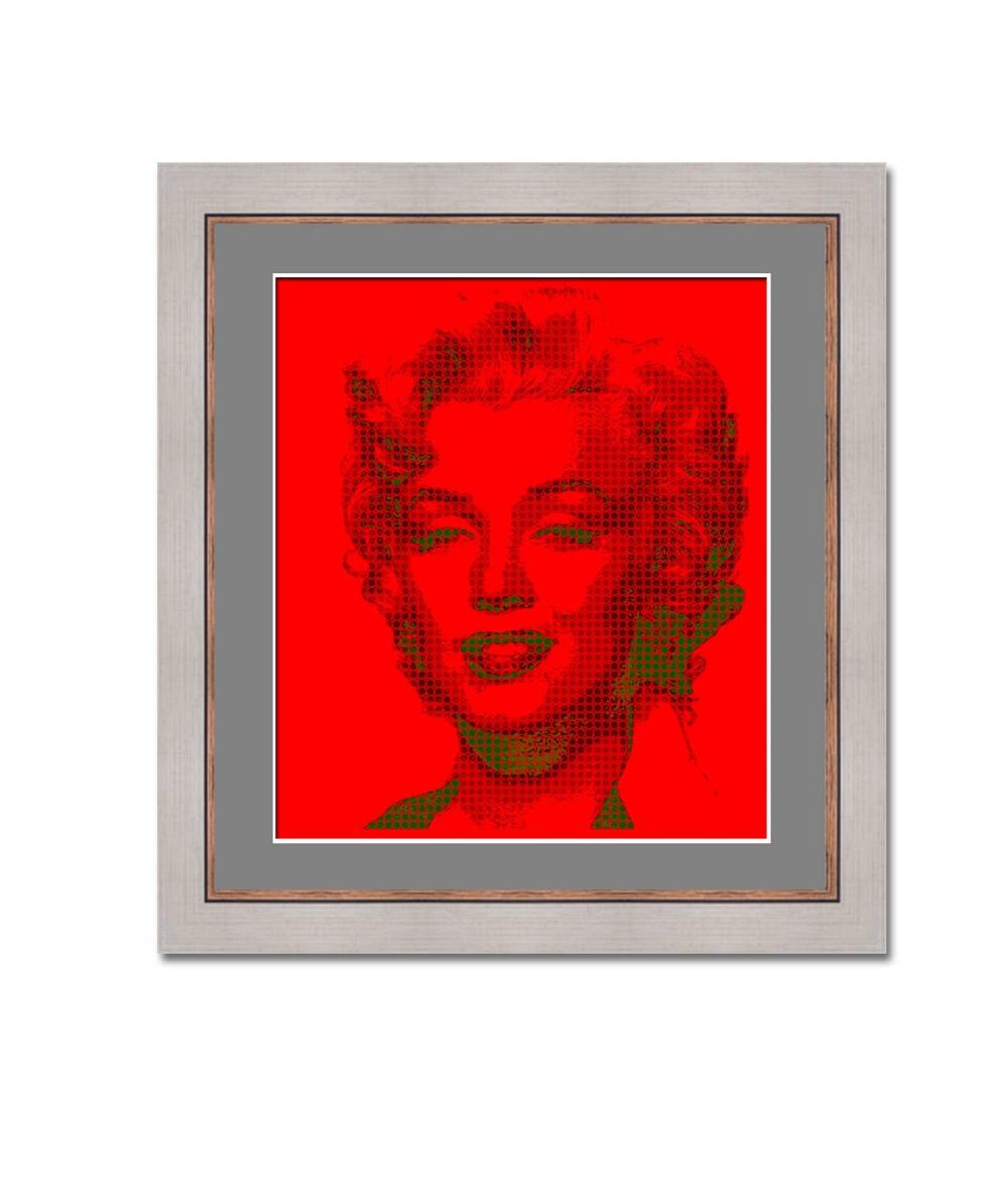 Obrazy Marilyn Monroe - Czerwony obraz Pop art Monroe red, obraz merlin monroe