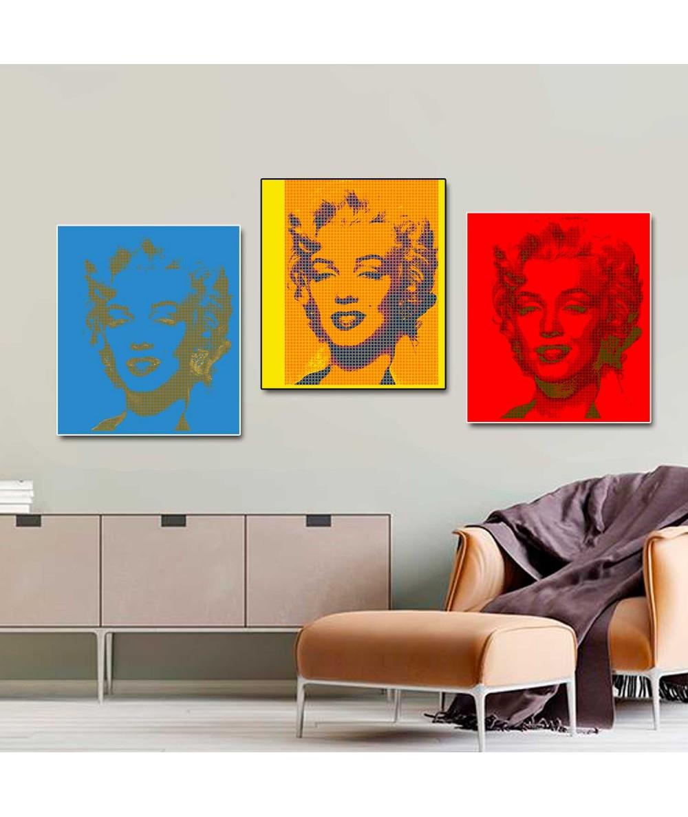 Tryptyk pop art Monroe obraz plakat