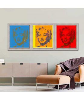 Obraz plakat współczesny Tryptyk pop art Monroe