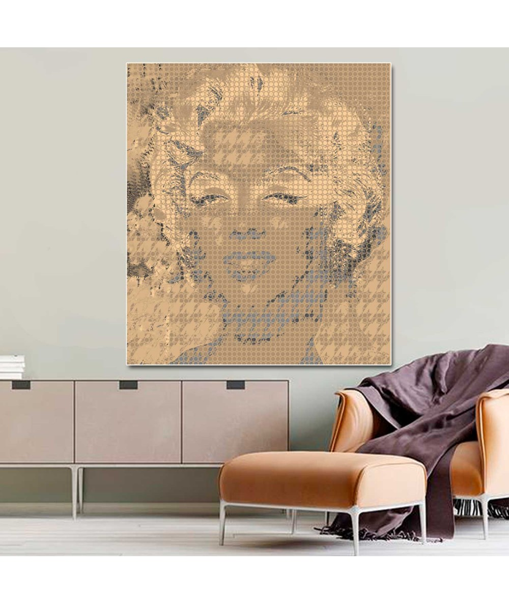 Grafika art deco Monroe i Channel old gold
