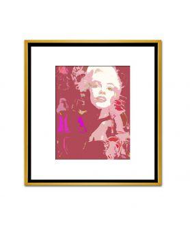 Obraz na płótnie Grafika plakat fashion Choo i Monroe (1-częściowy) pionowy