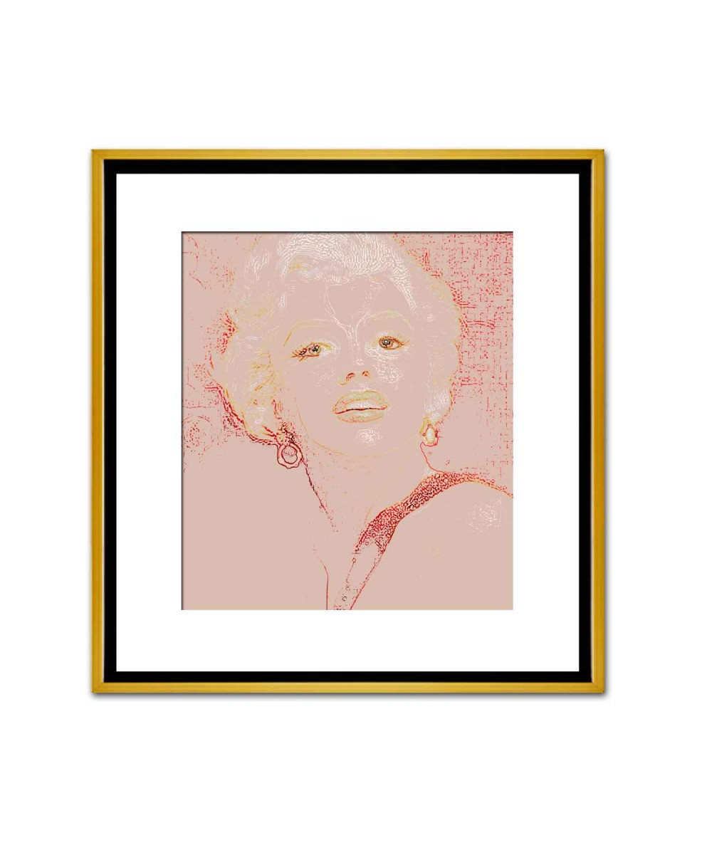 Obrazy brudny róż Portret Marilyn Monroe