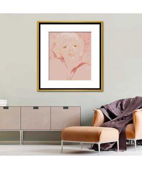 Obraz na płótnie Obrazy brudny róż Portret Marilyn Monroe