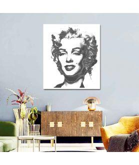 Pop art Monroe white obraz plakat