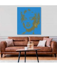 Pop art Monroe blue obraz plakat