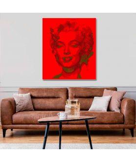 Obraz na płótnie Czerwony obraz Pop art Monroe red, obraz merlin monroe