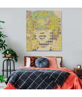 Obraz na płótnie Obraz grafika glamour Portret kobiety glamour (pionowy)