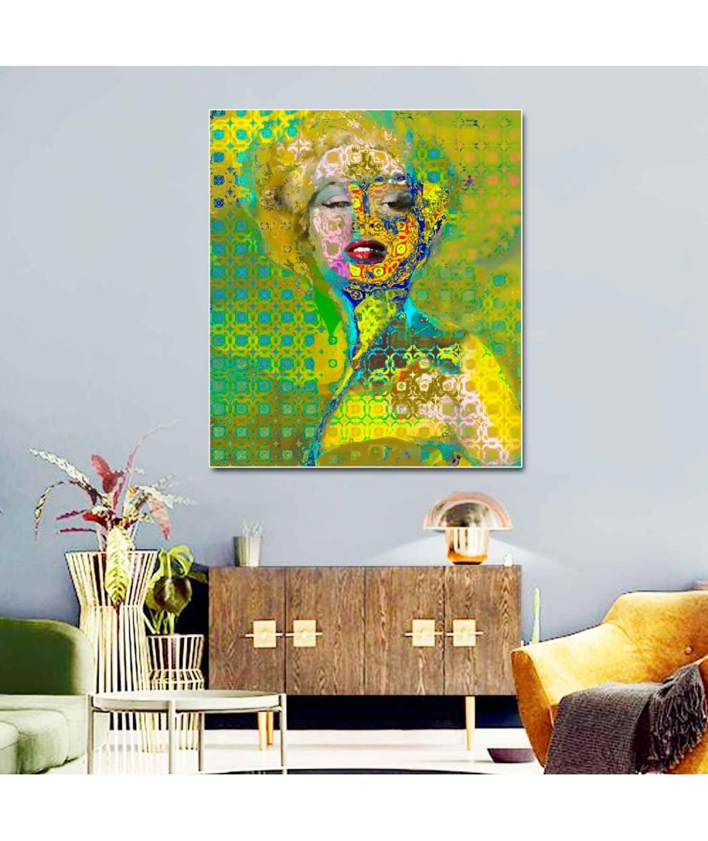 Obraz loftowy Marilyn Monroe deco (1-częściowy) pionowy