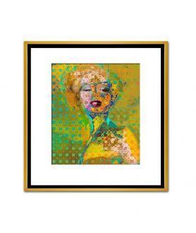 Obraz na płótnie Unikatowe obrazy złote Marilyn Monroe deco 2