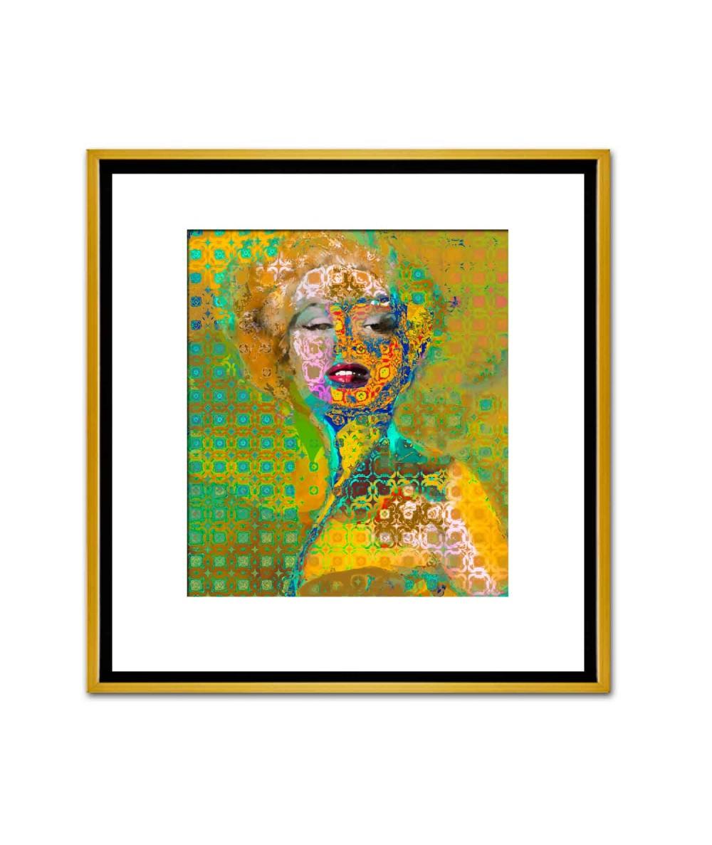 Unikatowe obrazy złote Marilyn Monroe deco 2