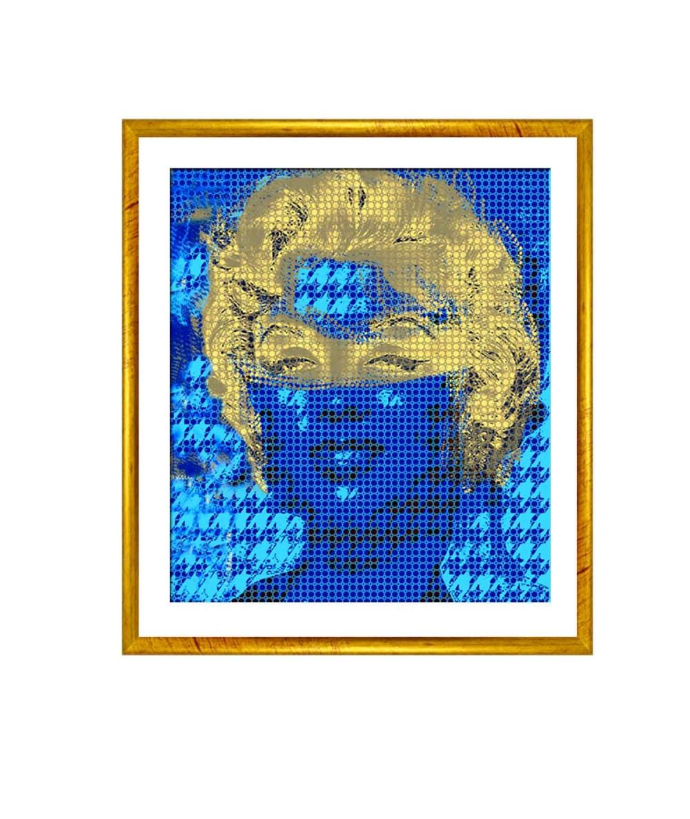 Grafika glamour Marilyn Monroe w masce (1-częściowy) pionowy