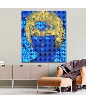 Obraz na płótnie Grafika glamour Marilyn Monroe w masce (1-częściowy) pionowy