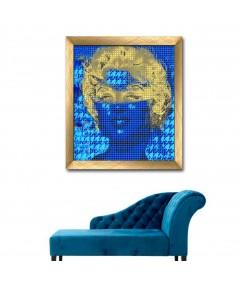 Obraz na płótnie Grafika glamour Marilyn Monroe w masce, obraz granatowy