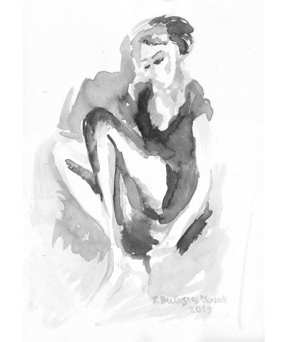 Grafika Kobieta czarno...
