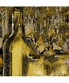 Obraz plakat nowoczesny Złota abstrakcja butelka