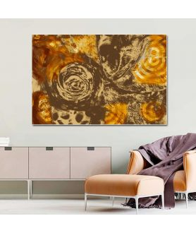 Obrazy abstrakcyjne - Obraz na ścianę Kawa i miód (1-częściowy) szeroki