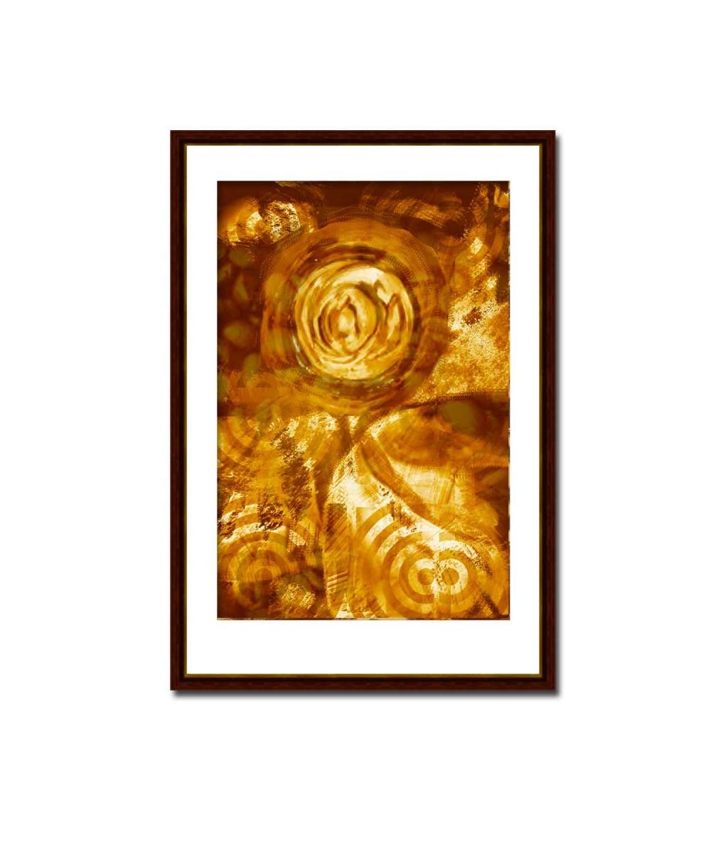 Obraz na płótnie Obraz na płótnie Miodowa abstrakcja (1-częściowy) pionowy