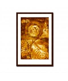 Obraz na płótnie Miodowa abstrakcja (1-częściowy) pionowy