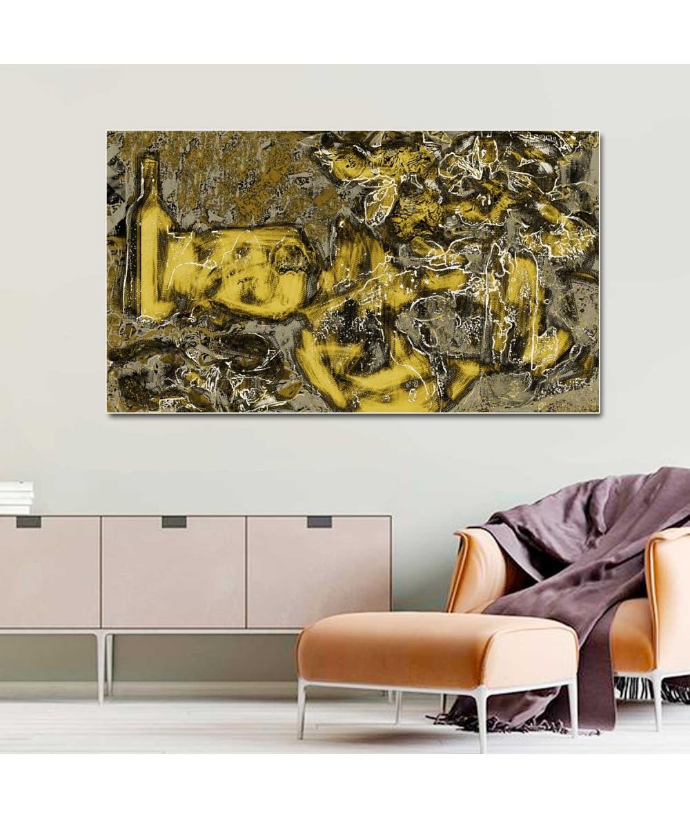 Obrazy martwa natura - Martwa natura kwiaty Złota kompozycja