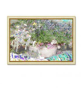 Kwiaty Lawenda i zioła obraz do salonu