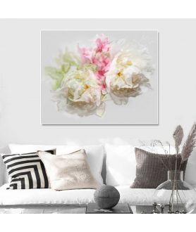 Kwiaty Piwonie obraz do salonu